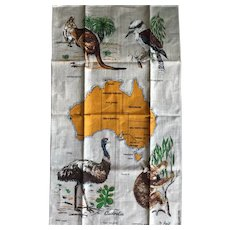Vintage Linen Tea Towel from Australia
