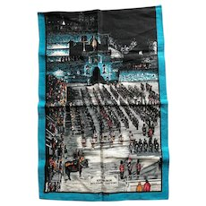 Scotland Edinburgh Castle Military Tattoo Linen Tea Towel