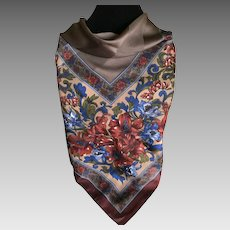 Vintage Tiger Lilly Scarf in Fall / Winter Colors