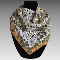 Vintage Plants of the Desert Silk Scarf