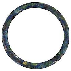 Vintage cobalt blue cloisonne bangle bracelet