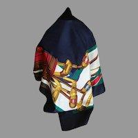 Vintage Brooks Brothers silk scarf golf design Italy