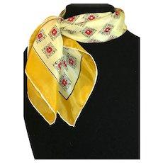 Vintage Mid Century Atomic Silk Scarf