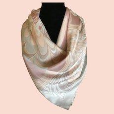 1970s Pastel Silk Scarf