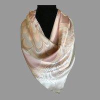 Retro 1970s Pastel Silk Scarf