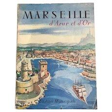 Mid Century Modern Marseille France Tourist / Advertising Book