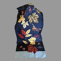 Silk Twill Brooks Brothers Leaf Motif Scarf