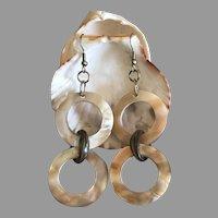 Rich Mother of Pearl Dangling Earrings