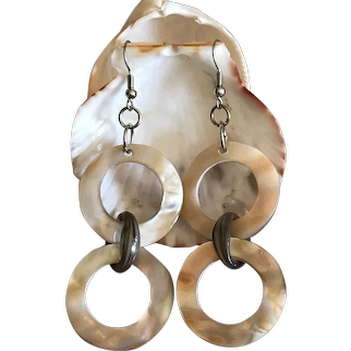 Rich Mother of Pearl Dangling Earrings