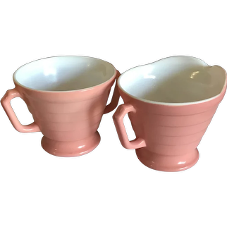 Pink Hazel Atlas Co. Moderntone Sugar and Creamer Set