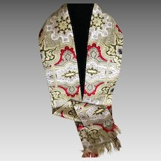 1960s Designed Emily Wetherby Silk Coat Scarf