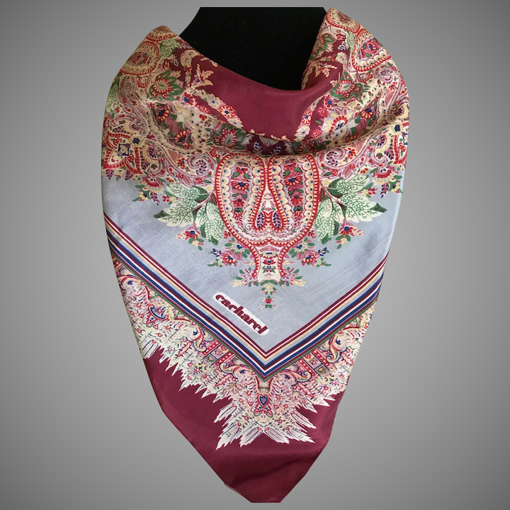 72fc8b8b71 Vintage 1960s Cacharel Scarf France : Basingers Vintage Collectibles and  Fashions | Ruby Lane