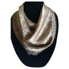 Vintage bronze Jones New York silk scarf