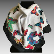 Cotton Ginnie Johansen butterfly scarf