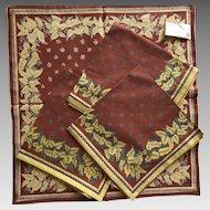 William Sonoma cotton napkins never used set of 4