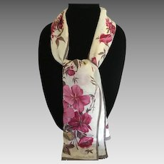 Vintage Oscar de La Renta rectangular silk scarf