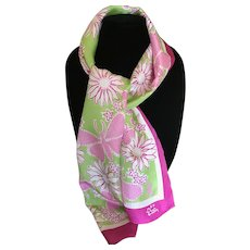 Lilly Pulitzer pink and green butterfly scarf