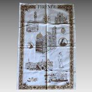 Vintage tea towel Firenze Italy