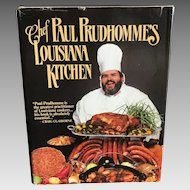 Chef Paul Prudhommes Louisiana Kitchen cookbook dated 1984