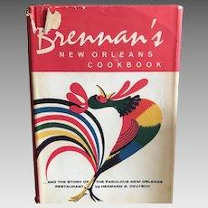 Brennans New Orleans cookbook by Herman Deutsch dated 1964