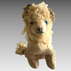 Very old mohair stuffed lion toy