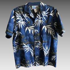 Midnight moonlight Hawaiian cotton shirt by RJC made in Hawaii