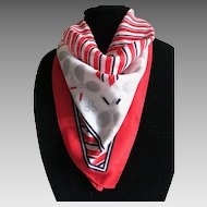 Vintage pure cotton tennis scarf made in Italy