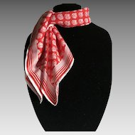 Vintage red and white seashell Totes rain scarf