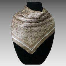 Vintage silk Coach logo scarf