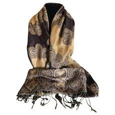 Vintage Cashmere and Silk Scarf Shawl Wrap