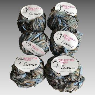 Six skeins of Italian ribbon yarn Trendsetter Essence