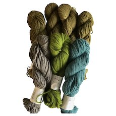 Eight skeins of Elsebeth Lavold angora blend yarn