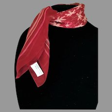 Vintage Laura Ashley Silk Sheer Red Scarf
