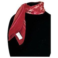 Vintage Laura Ashley Silk Sheer Red Scarf