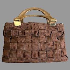 Vintage Delill Made in Italy Minimalist Handbag / Purse