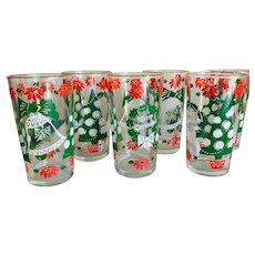 Mid Century Modern Christmas Hazelware Glasses