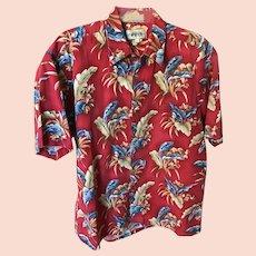 Vintage Pure Cotton Hawaiian Shirt SZ L