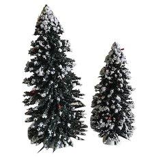 Byers miniature flocked Christmas Trees