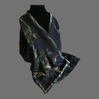 Vintage Anne Klein Patterned Cut Velvet scarf