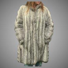 Vintage Natural Rabbit Coat SZ L-XL