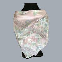 Liz Clairborne Palest of Pastels Silk Scarf