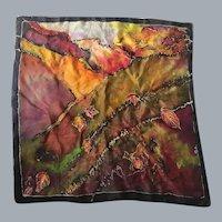 Silk Artist Batik Jeweltone Scarf