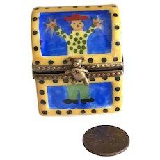Vintage Limoges Miniature Hand Painted Porcelain Toy Box