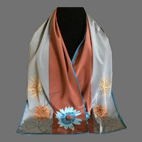 Vintage Silk Blend Vera Rectangular Scarf