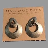 Vintage Marjorie Baer San Francisco Mixed Metal Earrings
