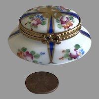 Vintage Limoges Oval Dresser Box - French Miniature for Your Fashion Doll Porcelain