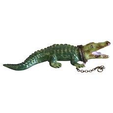 Vintage Miniature Limoges Rochard Crocodile or Alligator Porcelain Box