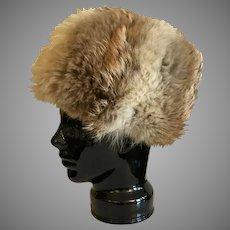 Vintage Canadian Coyote Fur Hat