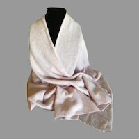 Cotton Candy Pink Cashmere Wrap / Shawl / Scarf Made in England