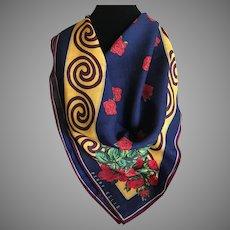 Vintage Wool and Silk Blend Perry Ellis Scarf Wrap Shawl